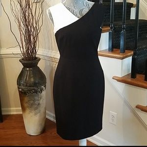 Calvin Klein Sleevess Dress in Black and White